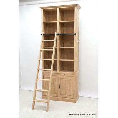 Bookshelf 2 doors, with ladder