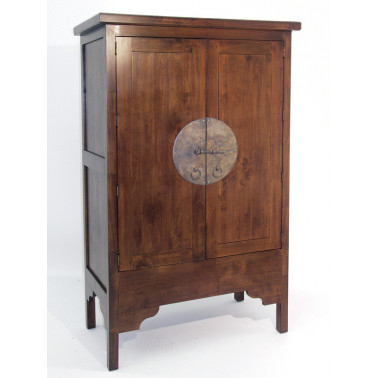 Chinese style armoire in solid hevea wood
