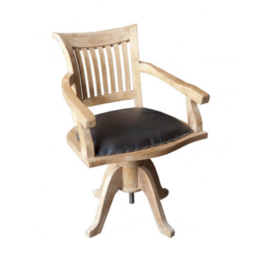 office turning chair, teak...