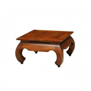 Opium coffee table in solid hevea wood