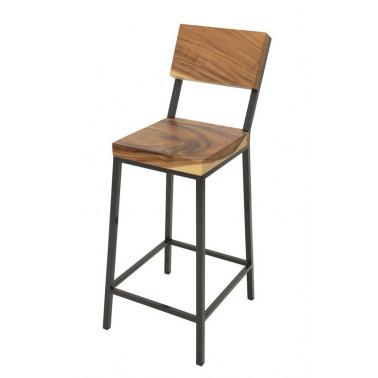 Bar chair acacia slab