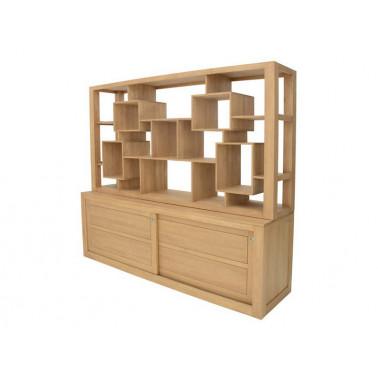 Labyrinth shelf display unit