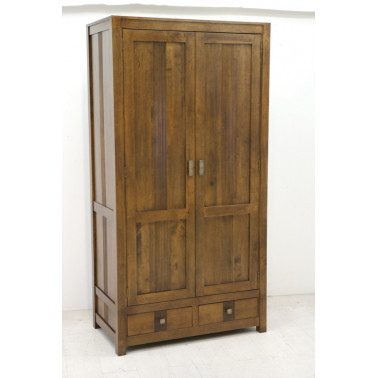Wardrobe with carved stripe pattern
