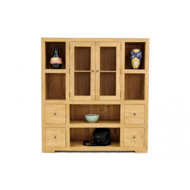 Glazed cabinet with shelves