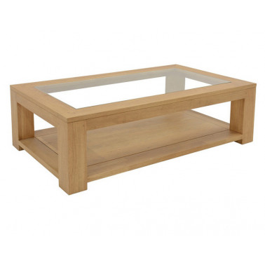 Coffee table 2 levels with glass top