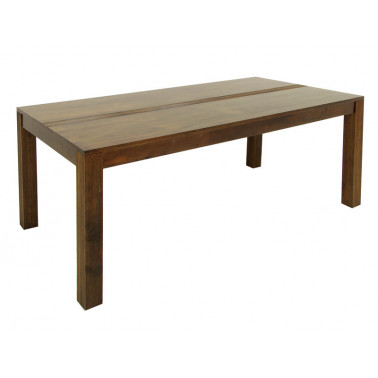 Dining Table with carved stripes design