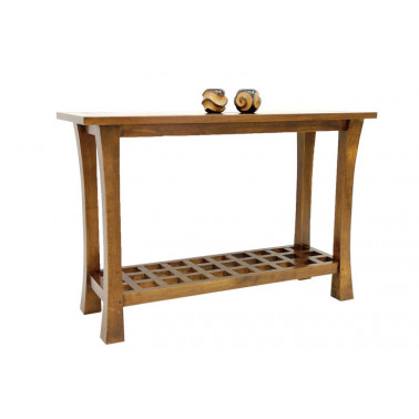 Console in solid hevea wood