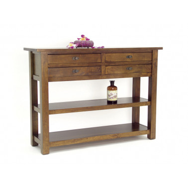 console with 4 drawers