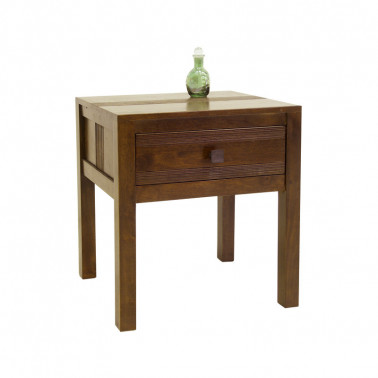 Bedside table with stripe...