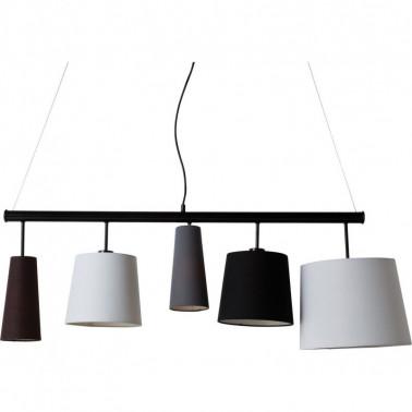 Ceiling lamp Parecchi black 140 cm