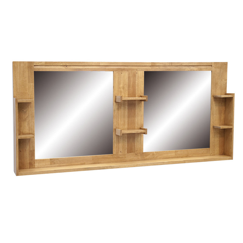Set Miroirs De De Salle De Bain Avec Etageres