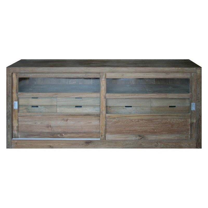 Sideboard with glazed sliding doors