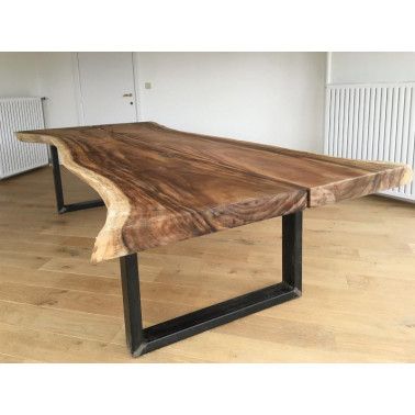 Large dining table with iron legs
