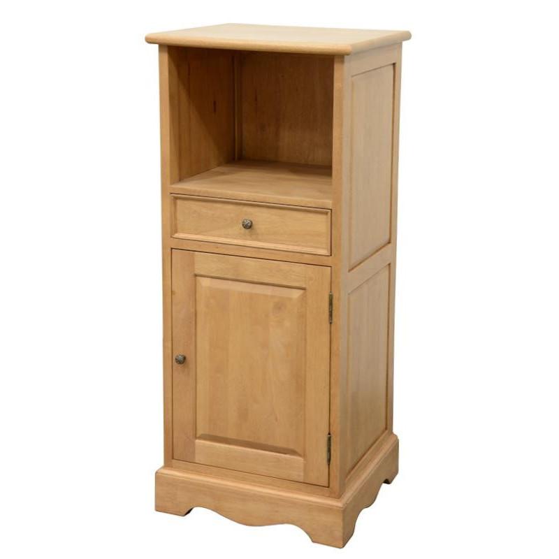 Side cabinet in solid hevea wood
