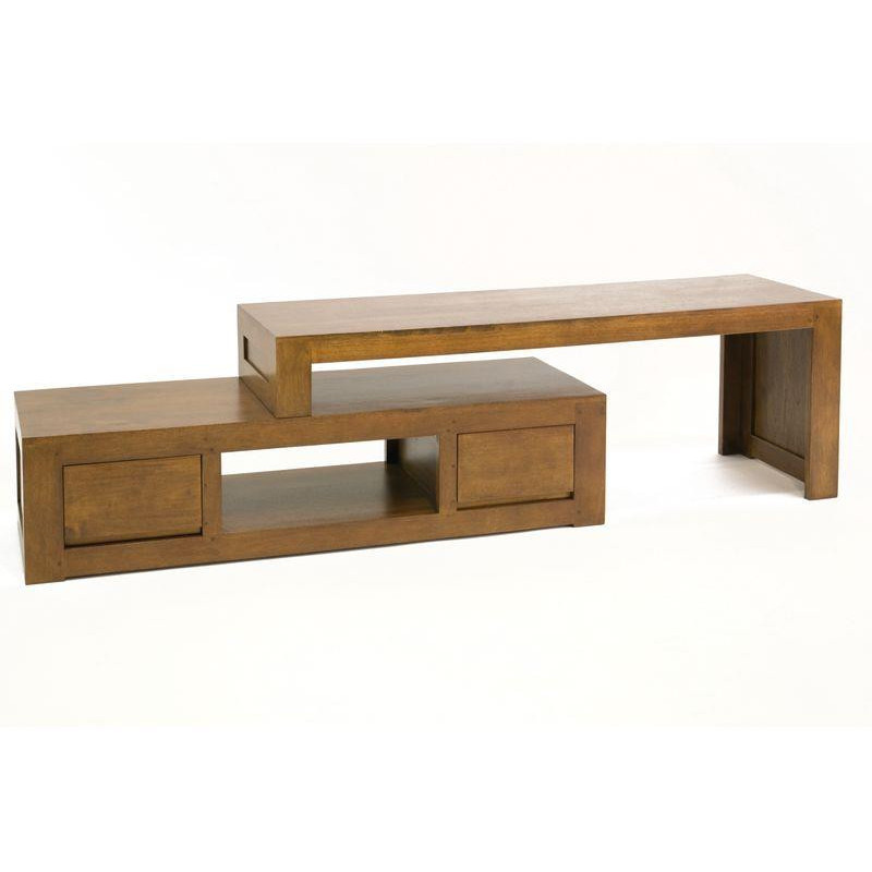 Low Tv cabinet made in 2 sliding parts