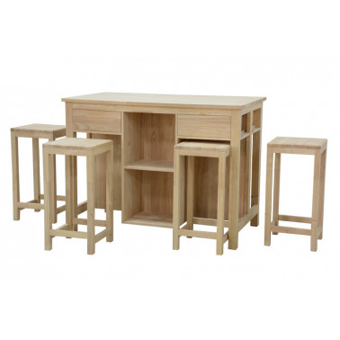 Keukentafel set met 4 krukken