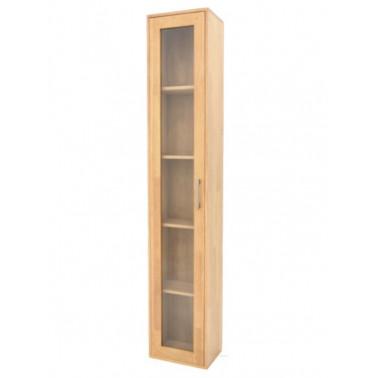 Storage column with glass door