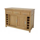 Center kitchen cupboard 2 doors 3 drawers (wooden worktop)