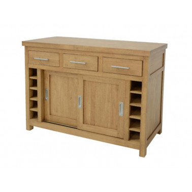 Center kitchen cupboard 2 doors 3 drawers (wooden worktop)