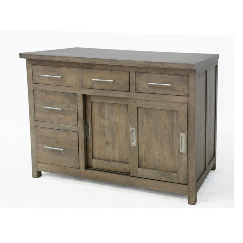 Kitchen cabinet 2 doors 5 drawers (wooden worktop)
