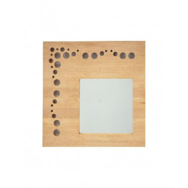 BUBBLES   mirror with hevea frame