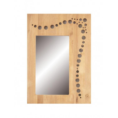 BUBBLES | mirror with hevea frame