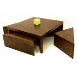 Squared coffee table with set of 4 side tables