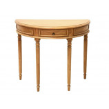 Half moon console with 1 drawer