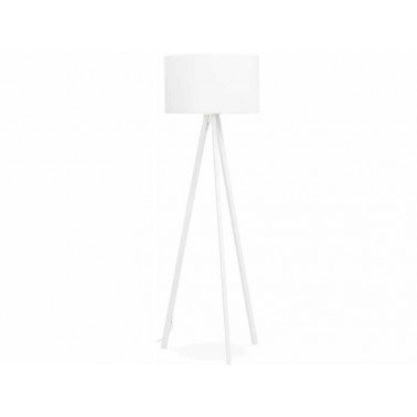 White designer floor lamp