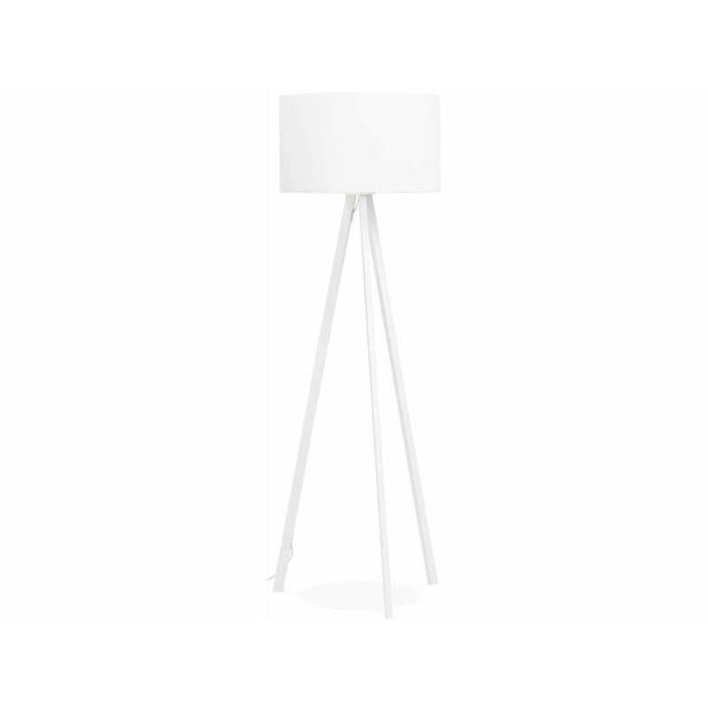 White designer floor lamp