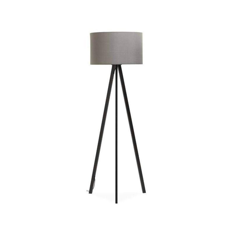Gray designer floor lamp