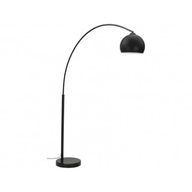 Matte black designer floor lamp