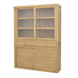 Display cabinet with 4 sliding doors & 4 drawers