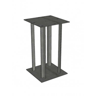 Table leg in metal