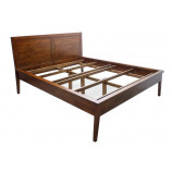 Elegant bed with thin frame and 2 panels bedhead