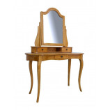 Rounded dressing table with curved legs & 3 drawers