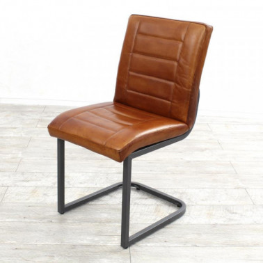 RAIL | Chair in buffalo leather