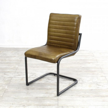 SABINA | Chair in buffalo leather