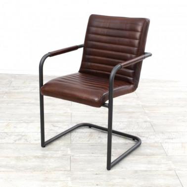 SABINA | Armchair in buffalo leather