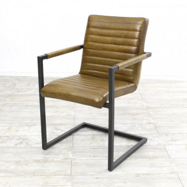 SABINA | Armchair in buffalo leather