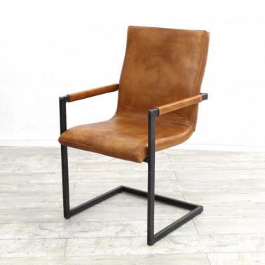 STRAIGHT | Armchair in buffalo leather