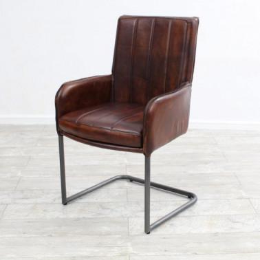 PILOT | Armchair in buffalo leather