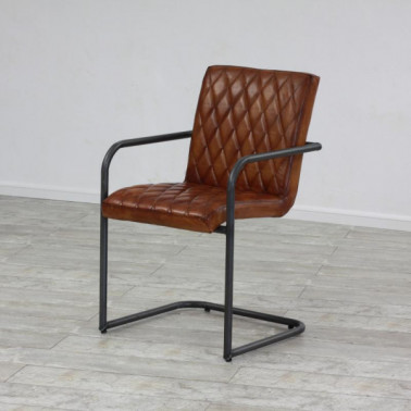 MARY | Armchair in buffalo leather