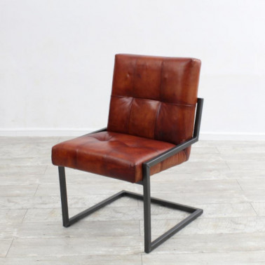 BOSTON | Chair in buffalo leather