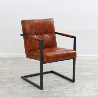 BOSTON | Armchair in buffalo leather