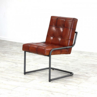 ARAD | Dining chair in buffalo leather