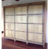 Custom wardrobe in recycled old teak wood