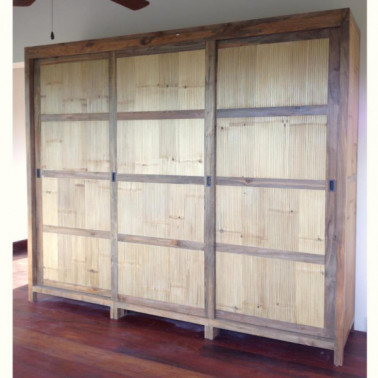 Custom wardrobe in recycled old teak wood