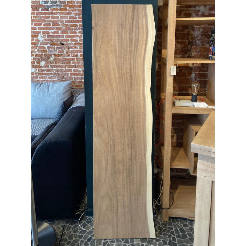 Acacia slab natural (curved) side and cut straight one side