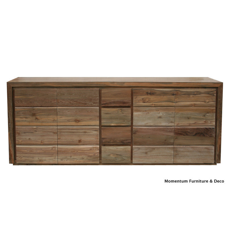 Sideboard with 4 swing doors and 4 center drawers